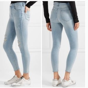 J Brand high rise distressed ankle crop